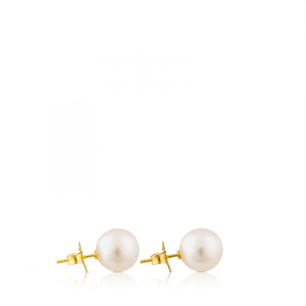 Gold TOUS Pearls Earrings