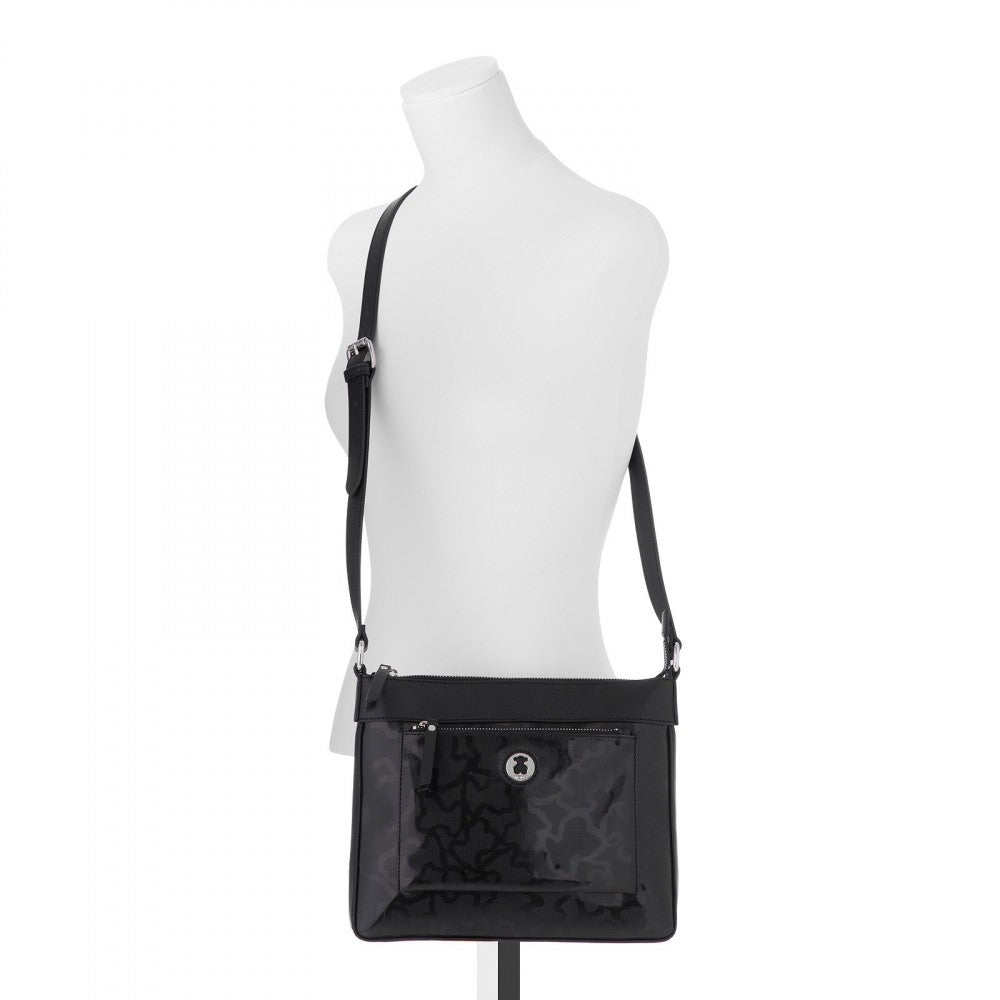 Kaos Shiny Black Handbag