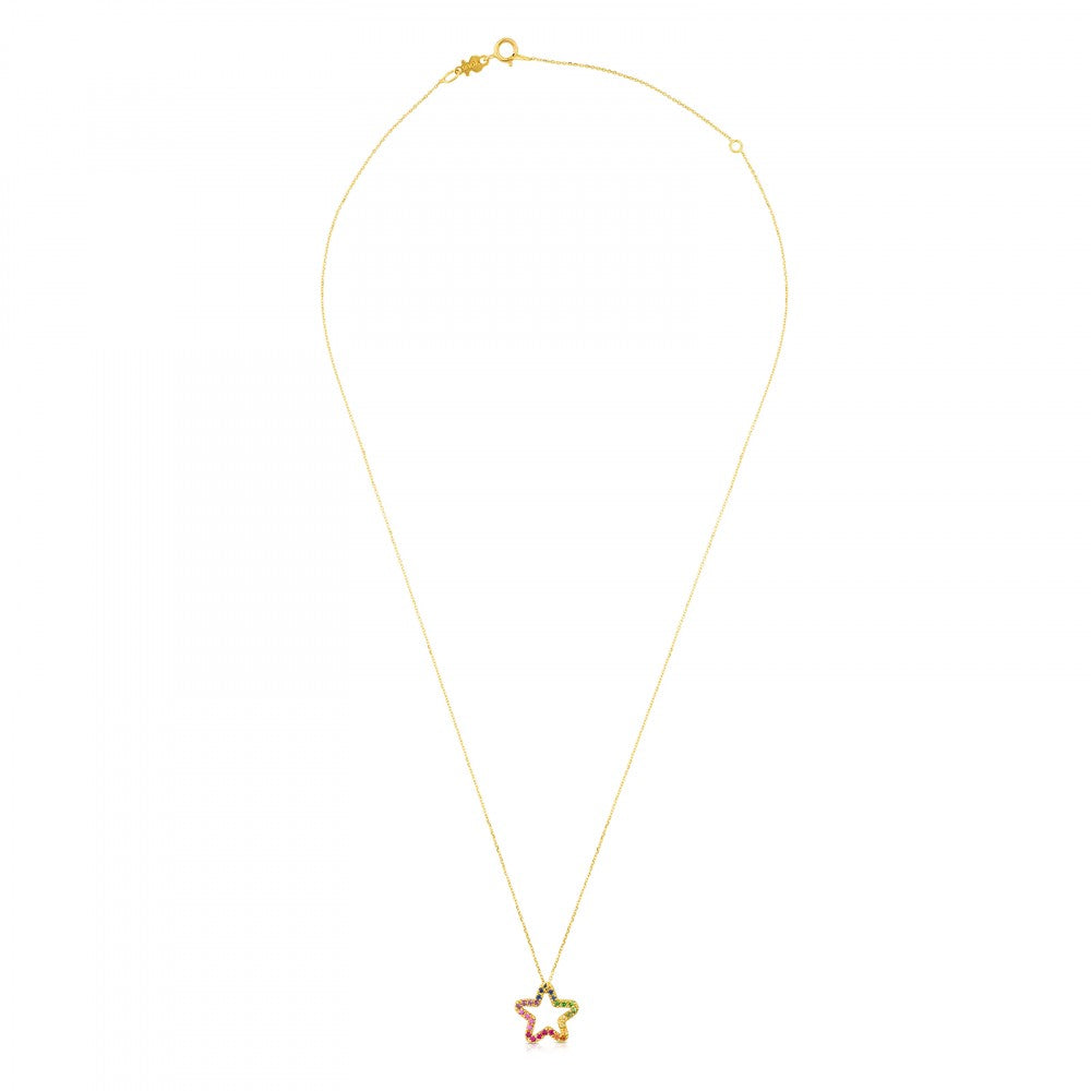 Gold Icon Necklace with Gemstones-Default-Tous Canada