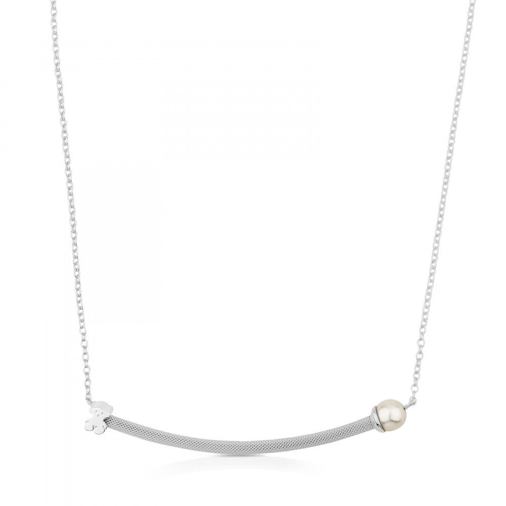Silver Icon Mesh Necklace
