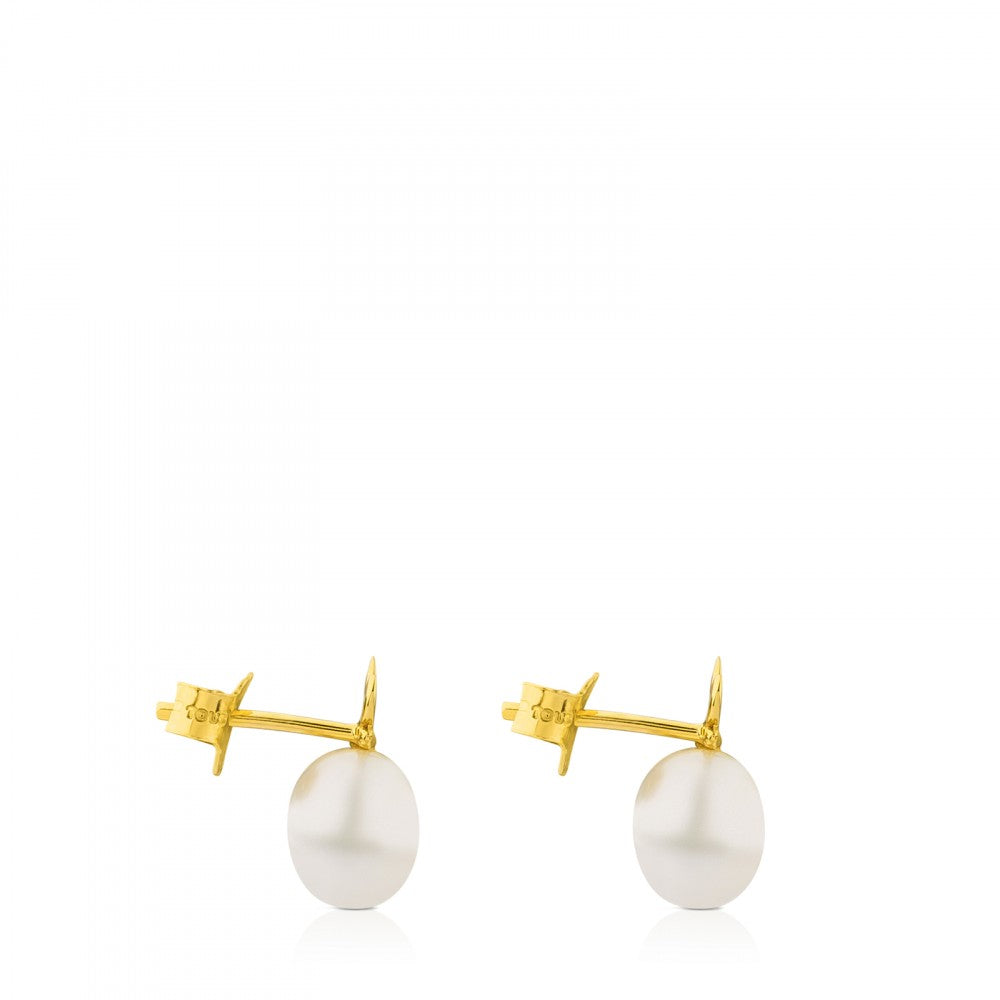 Gold Bera Butterfly Earrings with Pearl-Default-Tous Canada