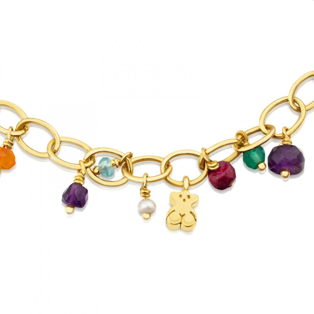 Vermeil Silver Eloise Bracelet with Gemstones and Pearl