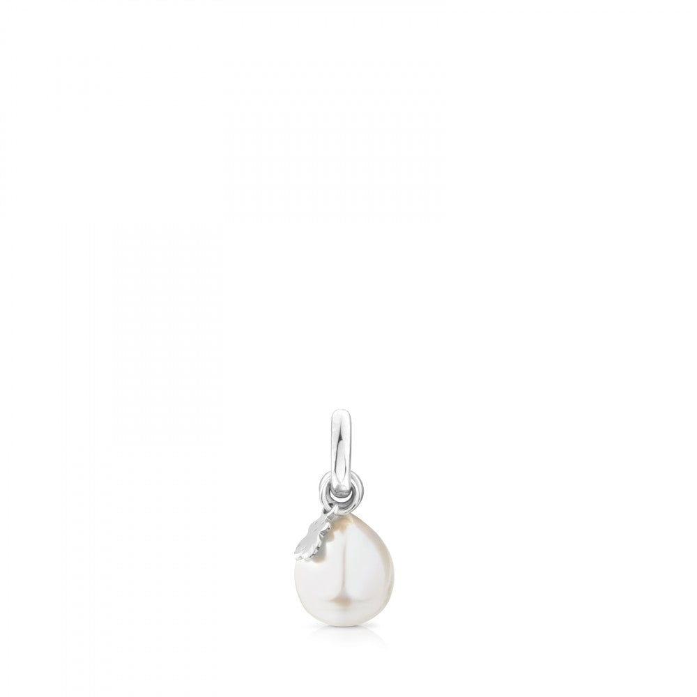 Silver Tiny Pendant with Pearl