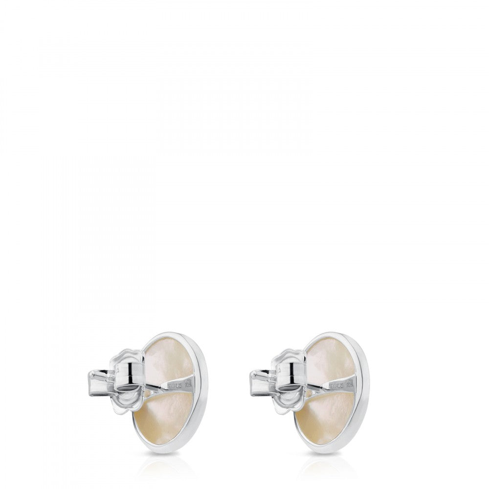 Silver Camee Earrings with Mother-of-Pearl