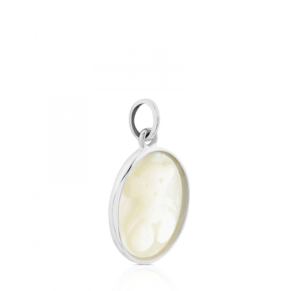 Silver Camee Pendant with Mother-of-Pearl-Default-Tous Canada