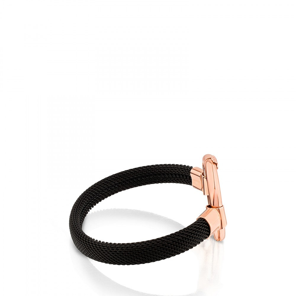 Rose Vermeil Silver and Steel Hold Bracelet-Ring-Tous Canada