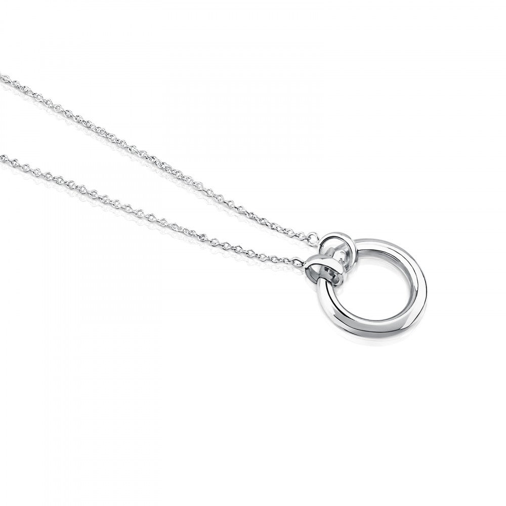 Silver Hold Necklace-Necklace-Tous Canada
