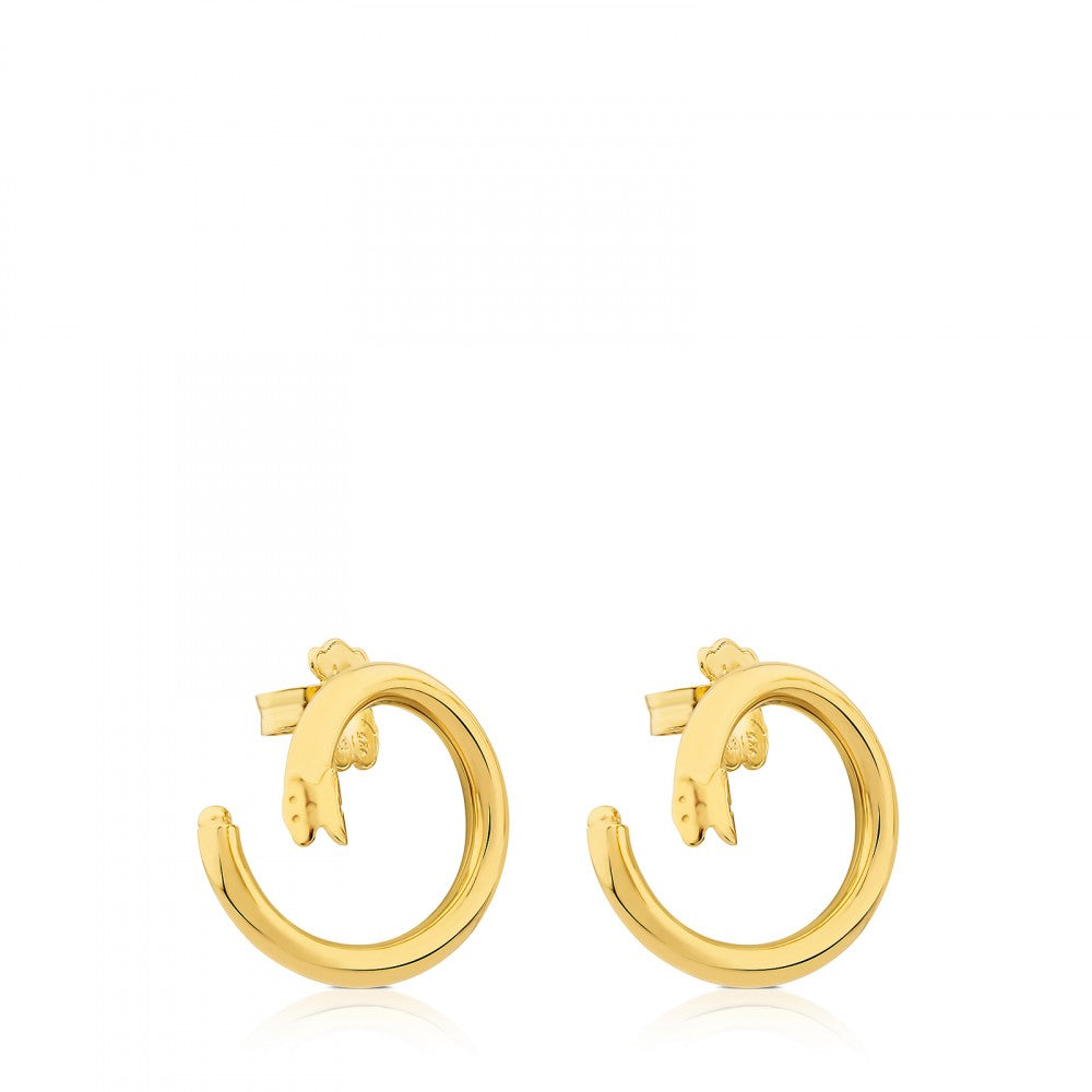 Medium Vermeil Silver Hold Earrings
