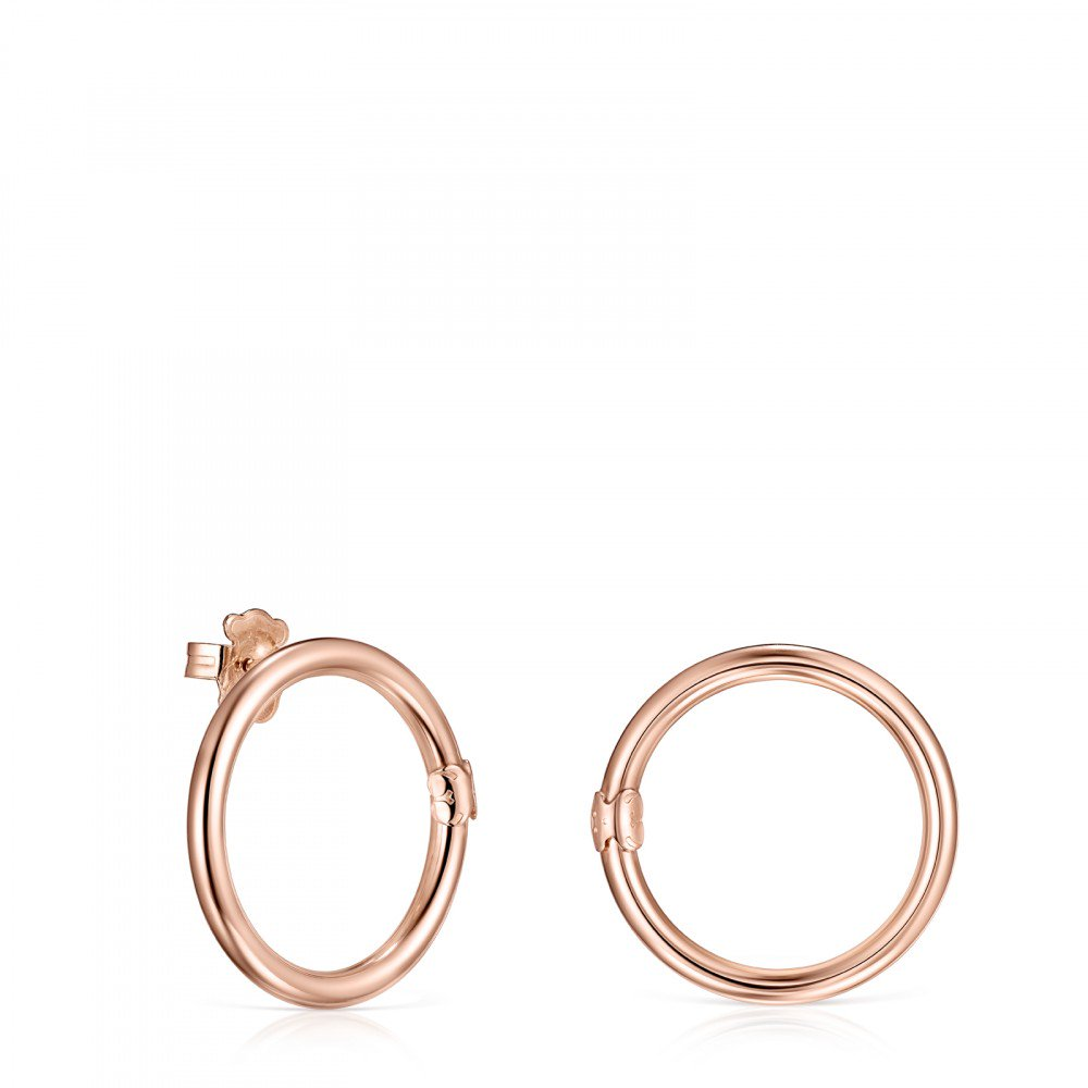 Large Hold Ring in rose Gold Vermeil