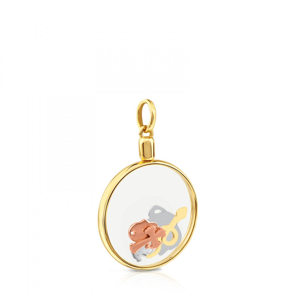 Vermeil Silver Idol Locket Pendant