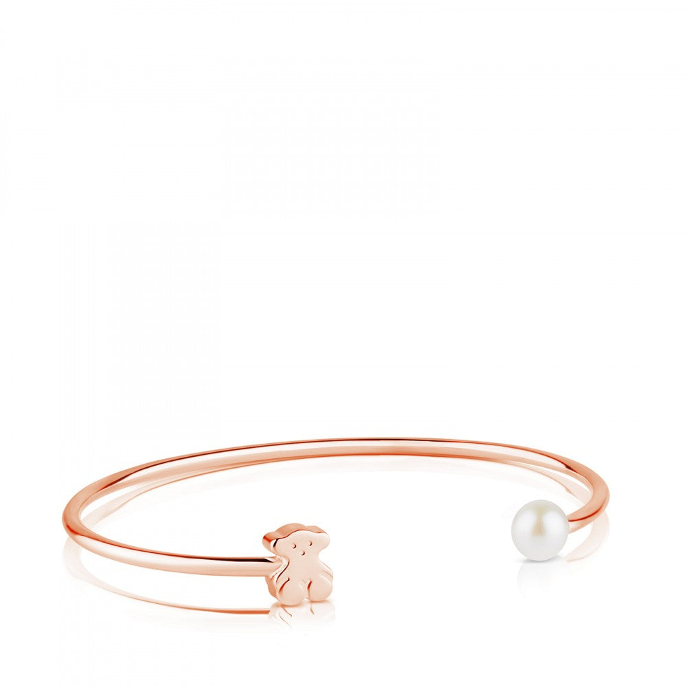 Rose Vermeil Silver Super Micro Bracelet with Pearl