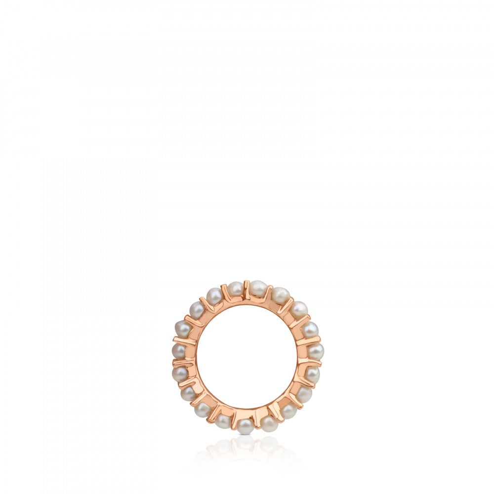 Large rose Gold Vermeil Shield Pendant with Pearls