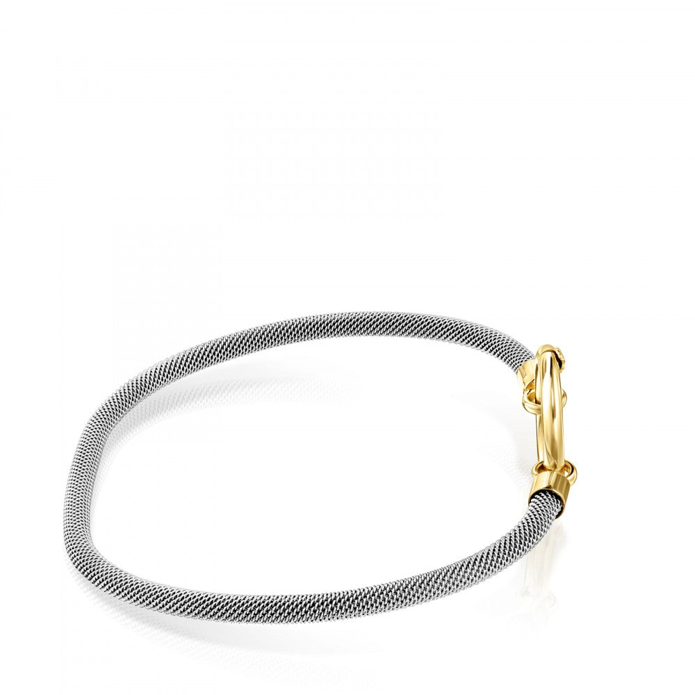 Gold and Steel Hold Bracelet