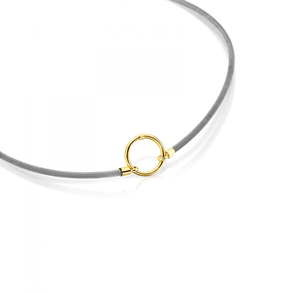 Gold and Steel Hold Necklace-Default-Tous Canada