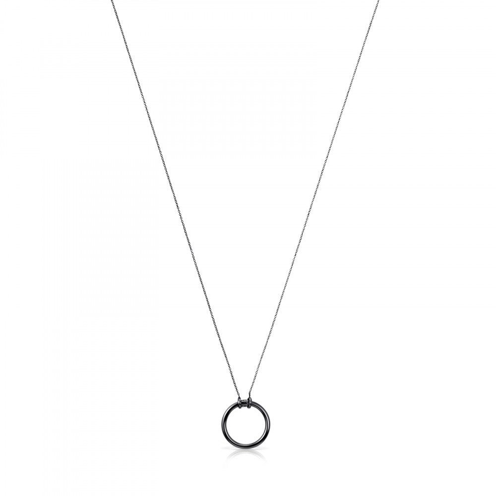 Dark Silver Hold Necklace-Default-Tous Canada