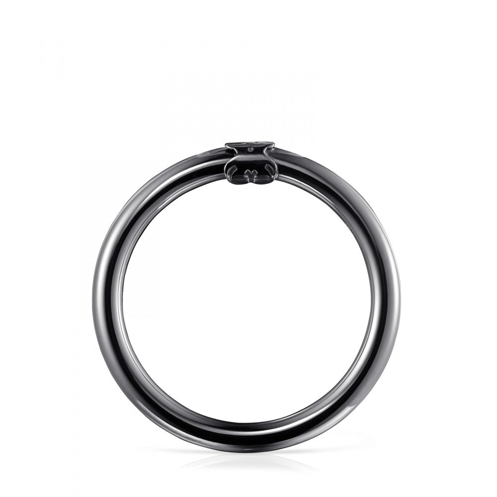 Large Dark Silver Hold Ring