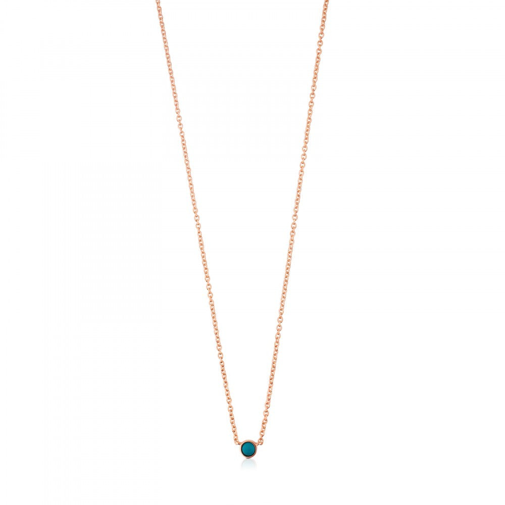 Rose Vermeil Silver Super Power Necklace with Turquoise