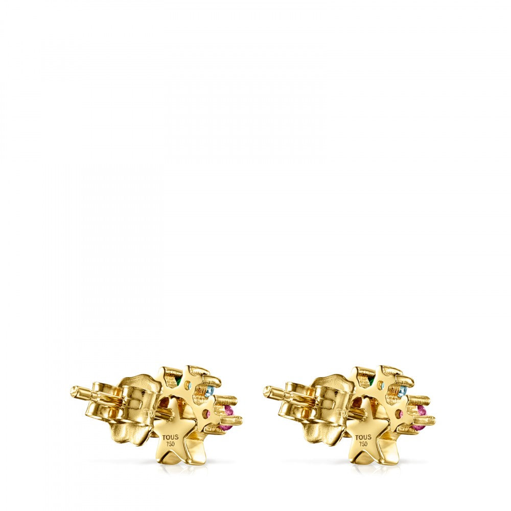 Gold Real Sisy star Earrings with Gemstones-Default-Tous Canada