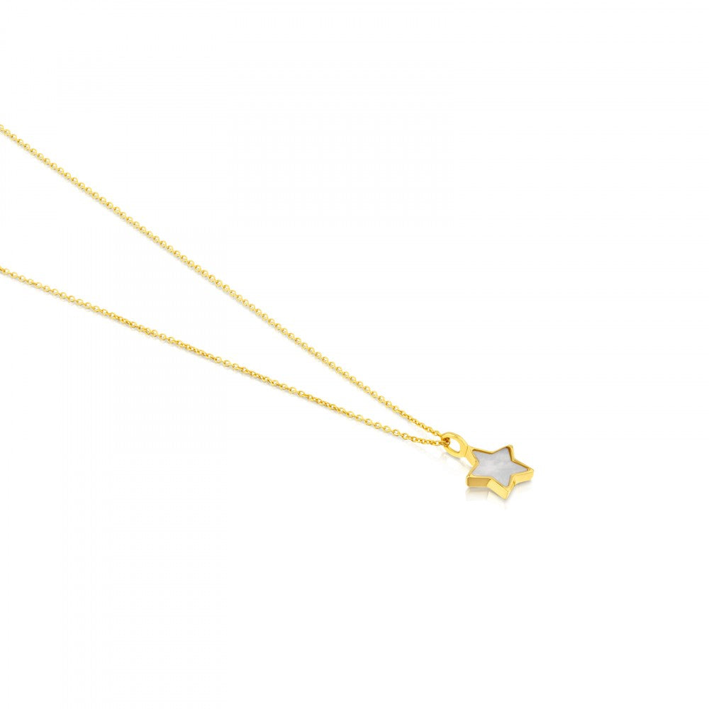 Gold and Mother-of-pearl XXS star Necklace