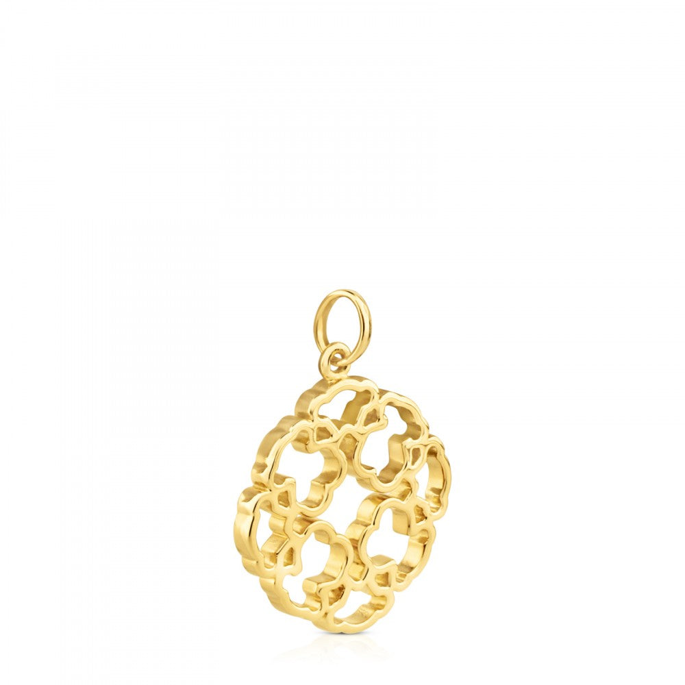Gold Mossaic Power Pendant