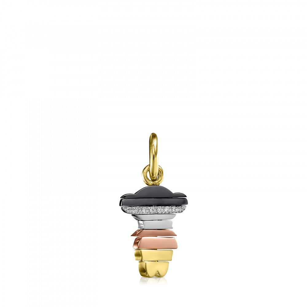 Small Swing Pendant in Gold and Diamonds - Limited Edition