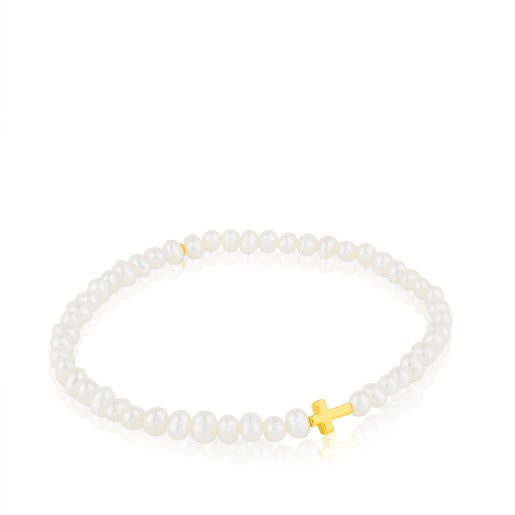 Gold Sweet Dolls XXS Bracelet with Pearl-Tous Canada