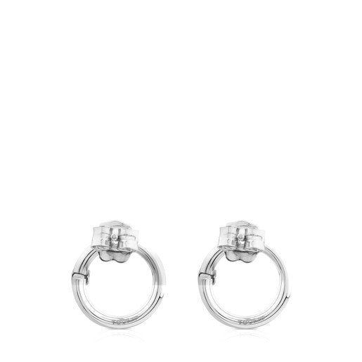Small Silver Hold Earrings-Tous Canada