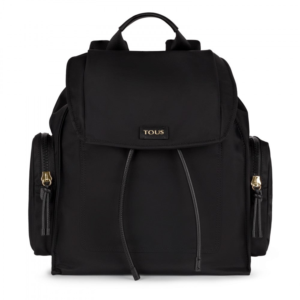 Black-burgundy Nylon Doromy Backpack