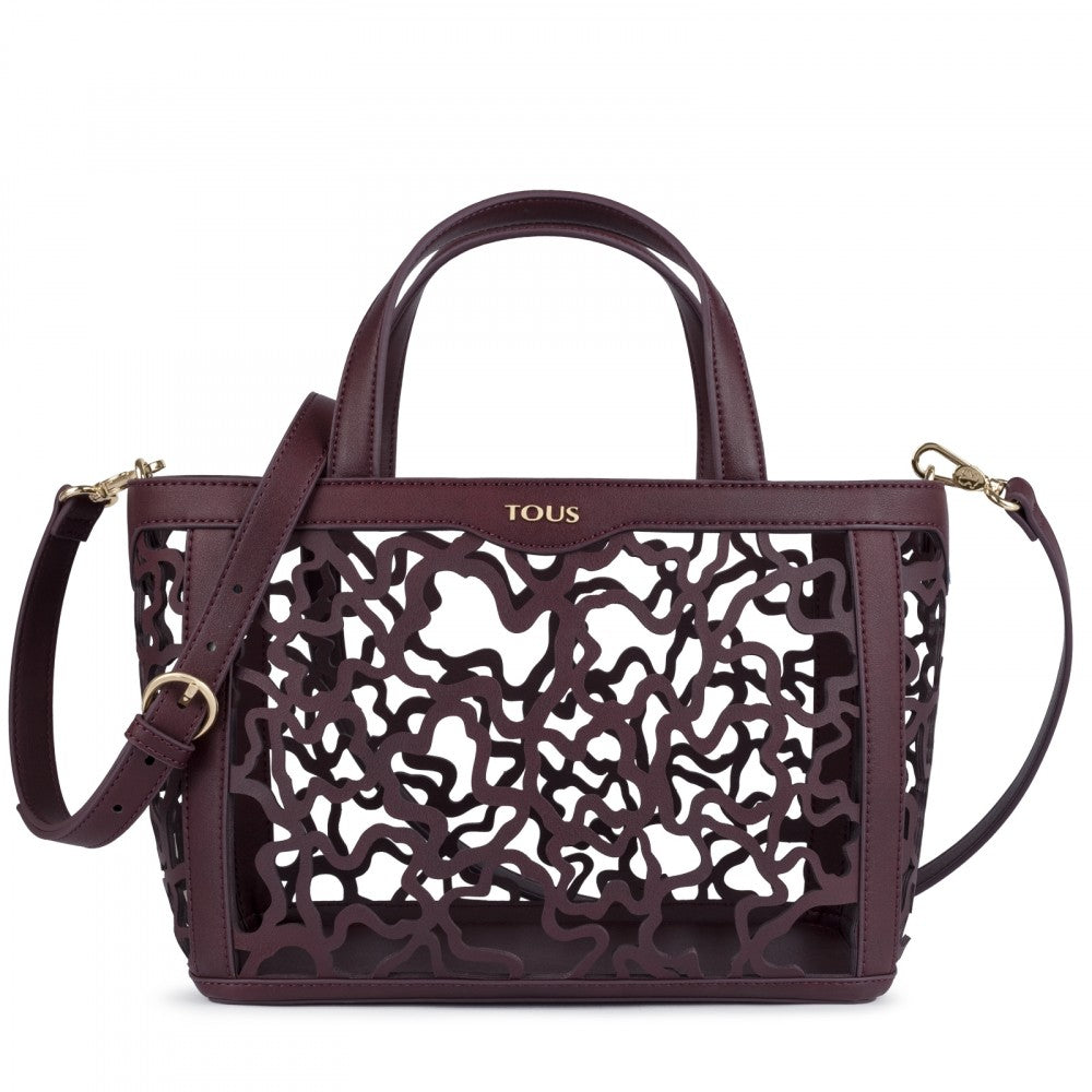 8628c91ab0 Small burgundy Kaos Shock Tote bag. Hover to zoom