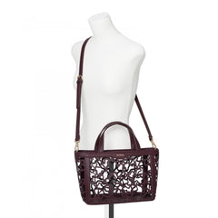 Small Burgundy Kaos Shock Tote Bag
