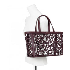Medium burgundy Kaos Shock Tote bag