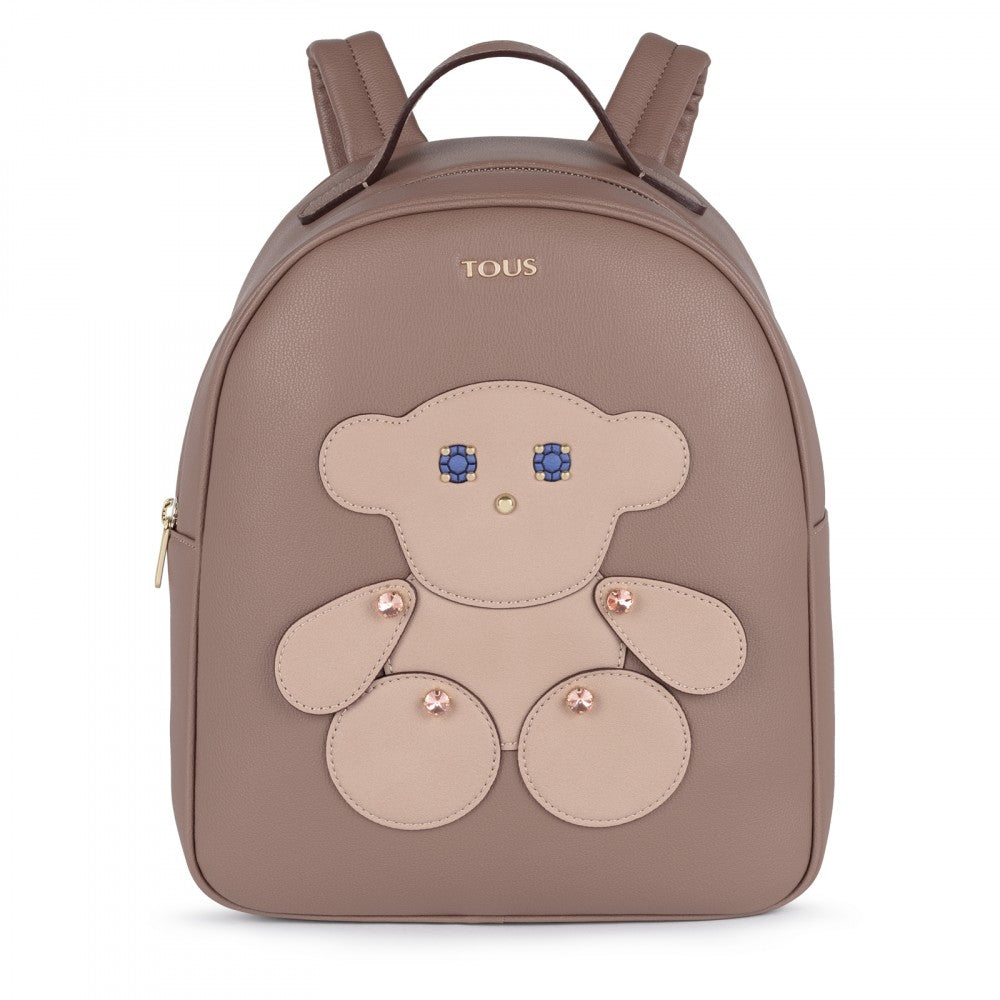 Taupe colored Patch Maia Backpack