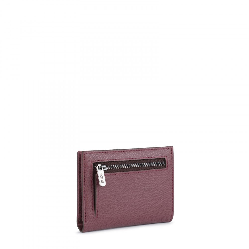 Small pink Leather Odalis Wallet