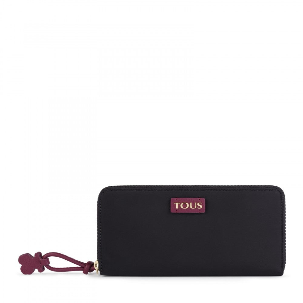 Medium black-burgundy Nylon Doromy Wallet
