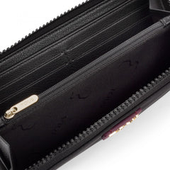 Medium Black-Burgundy Nylon Doromy Wallet-Wallet-Tous Canada