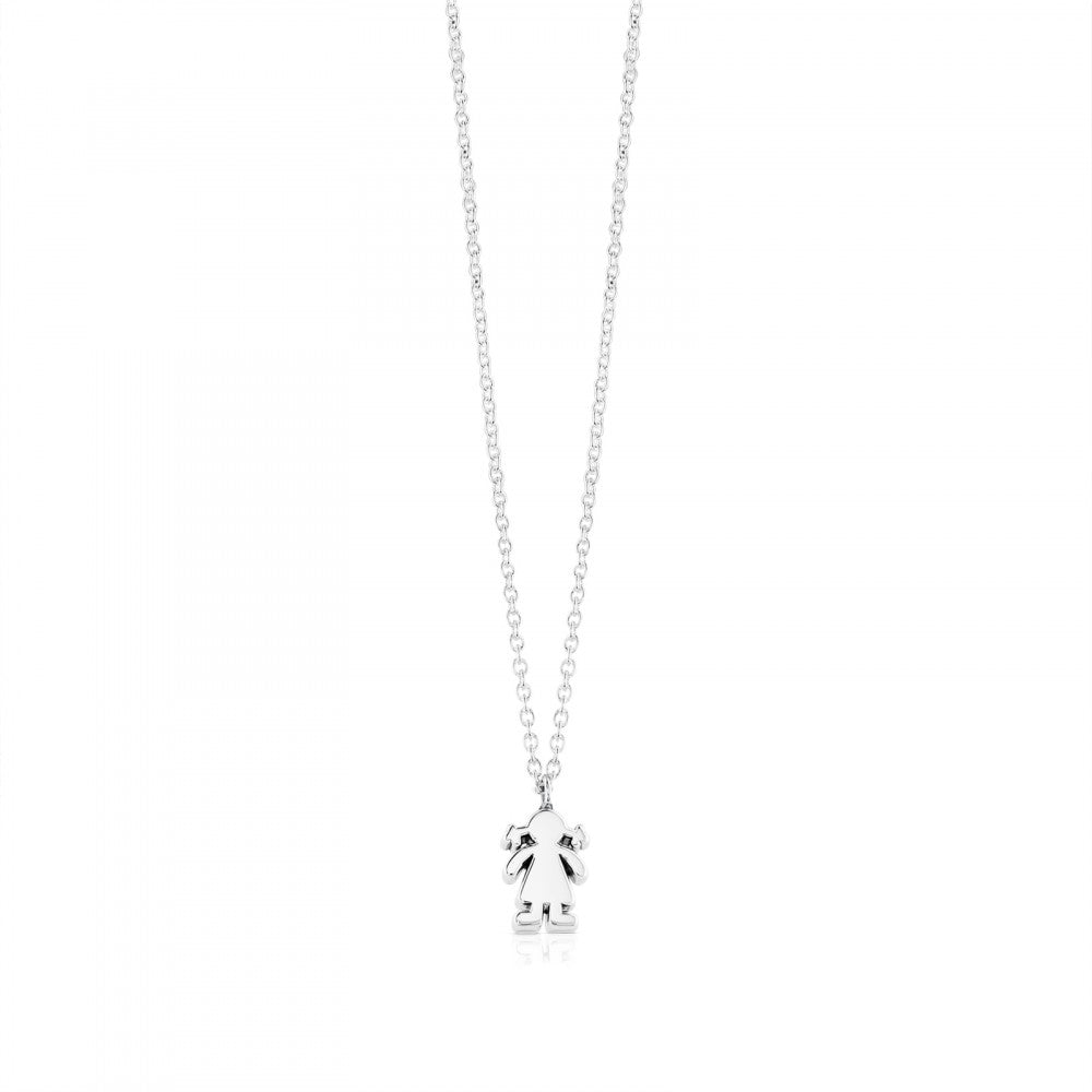 Silver Sweet Dolls Necklace