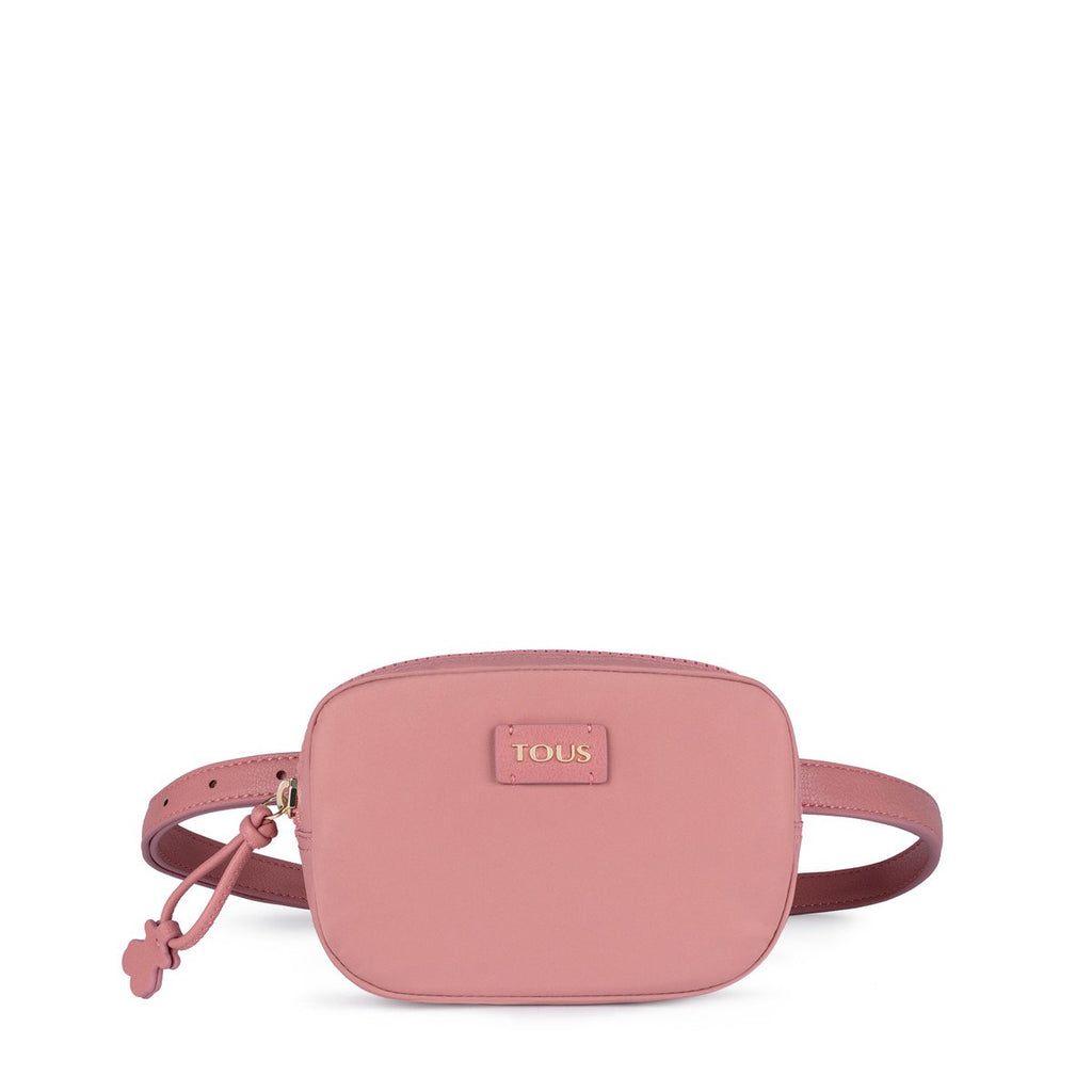 Pink Nylon Doromy Waist Crossbody Bag