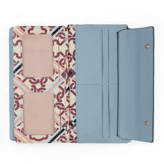 Medium beige-blue Mossaic Frames Wallet