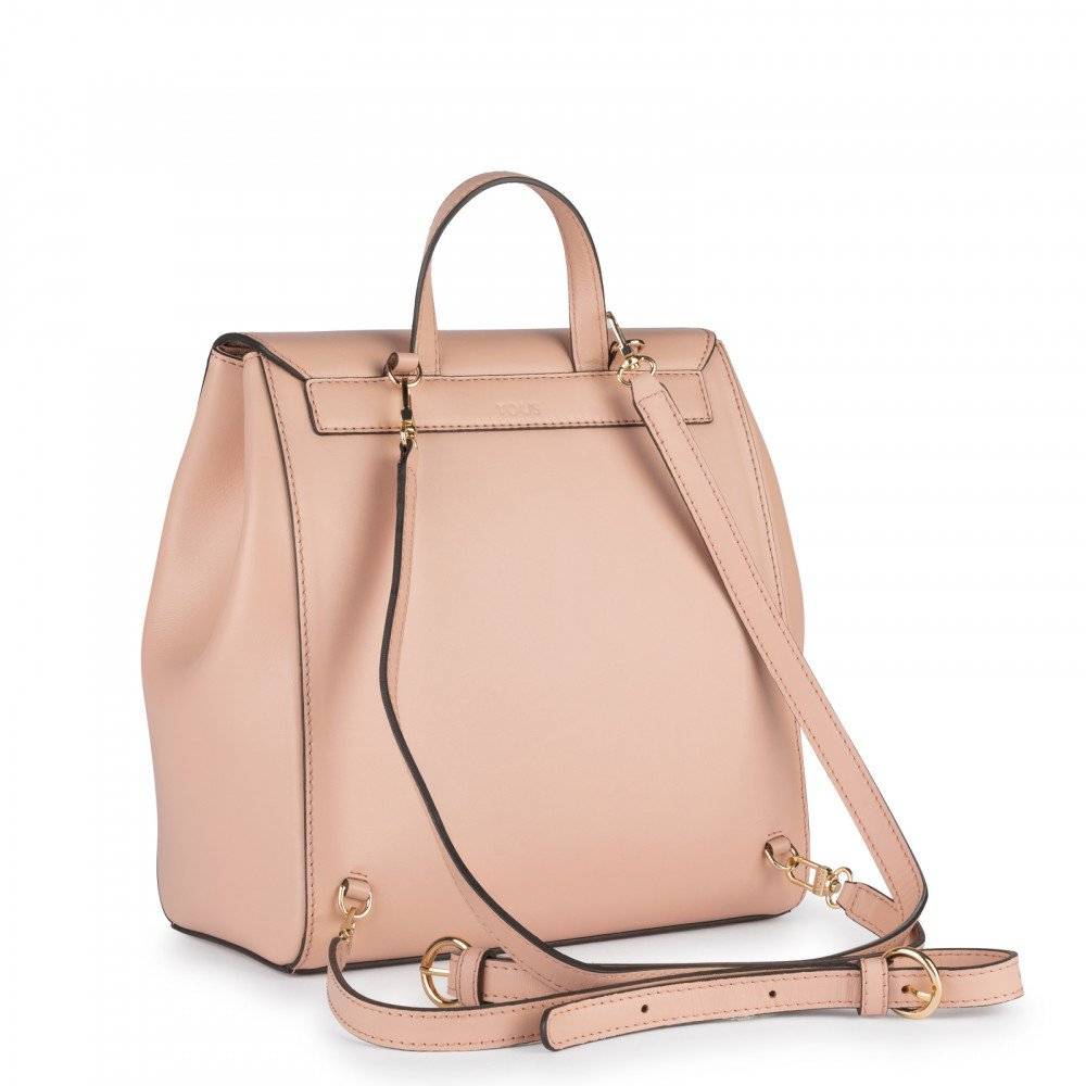 Pink Leather Liz Backpack-Backpack-Tous Canada