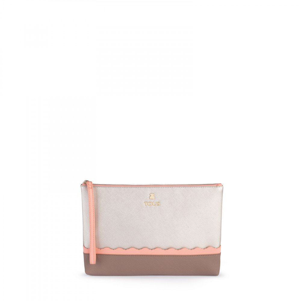 Silver-pink colored Carlata Clutch bag