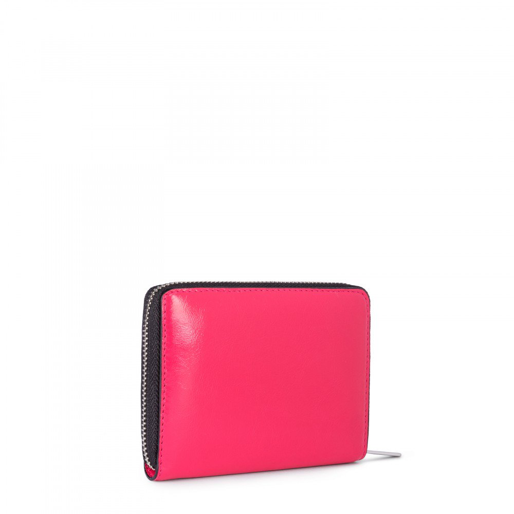 Small Fuchsia Leather Tulia Wallet