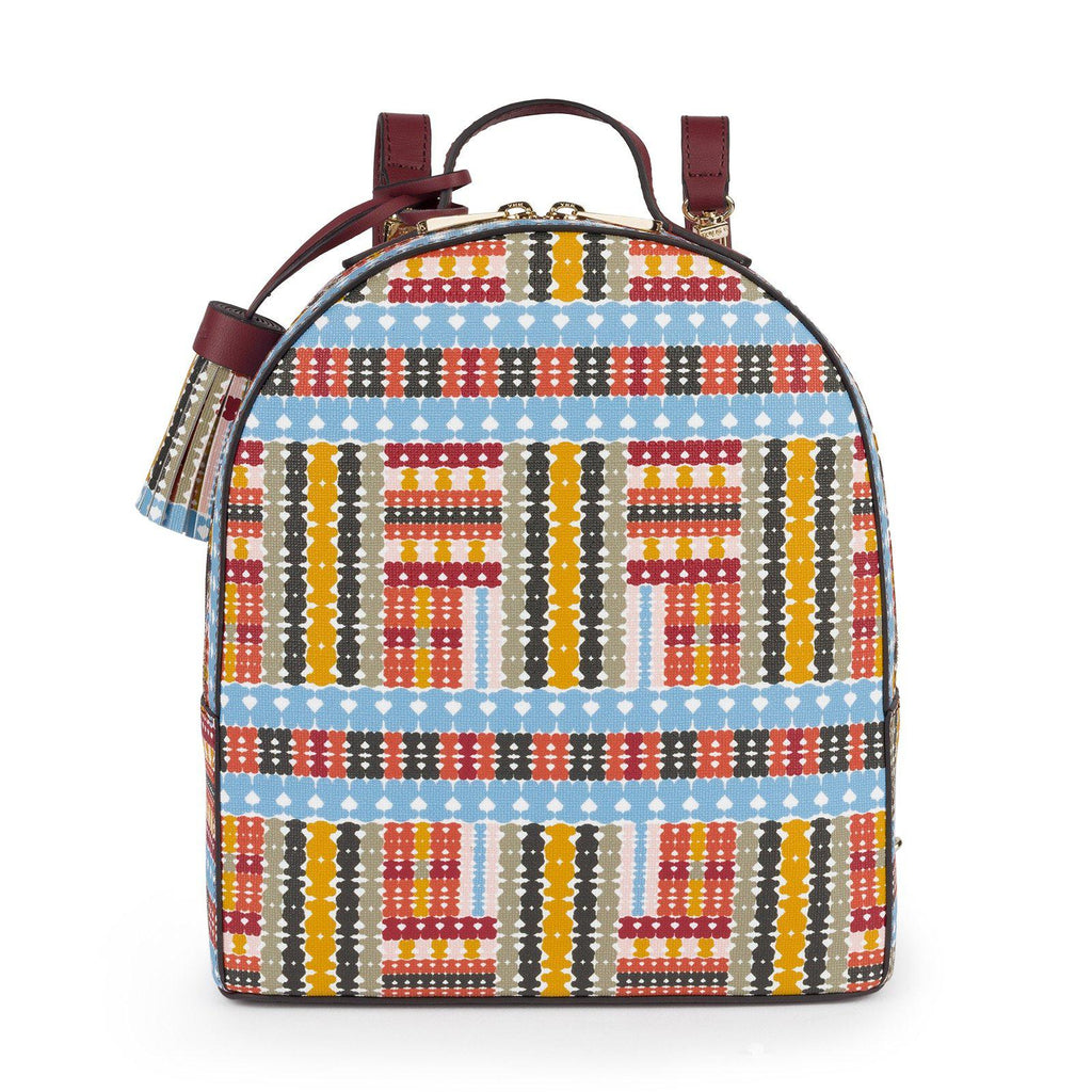 Multi-Burgundy Alicya Backpack