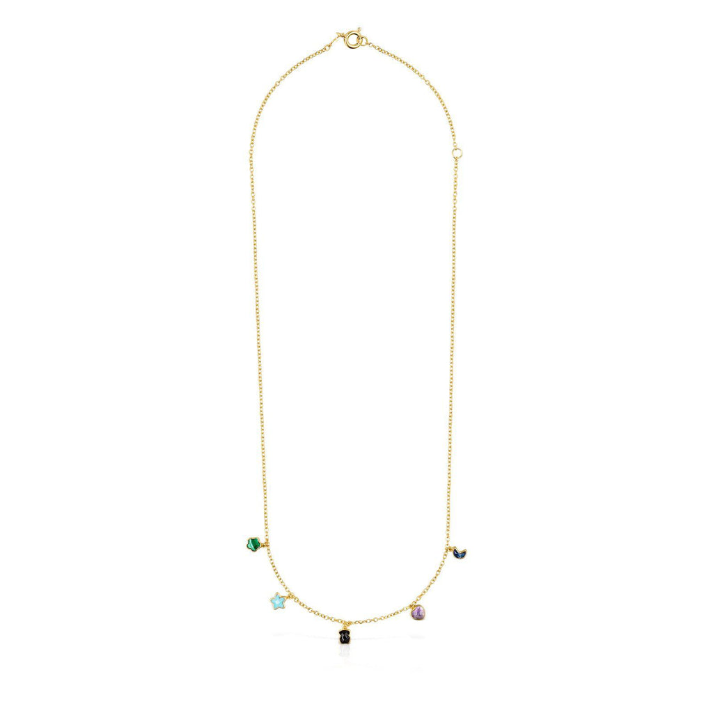 Glory Necklace in Gold Vermeil with Gemstones