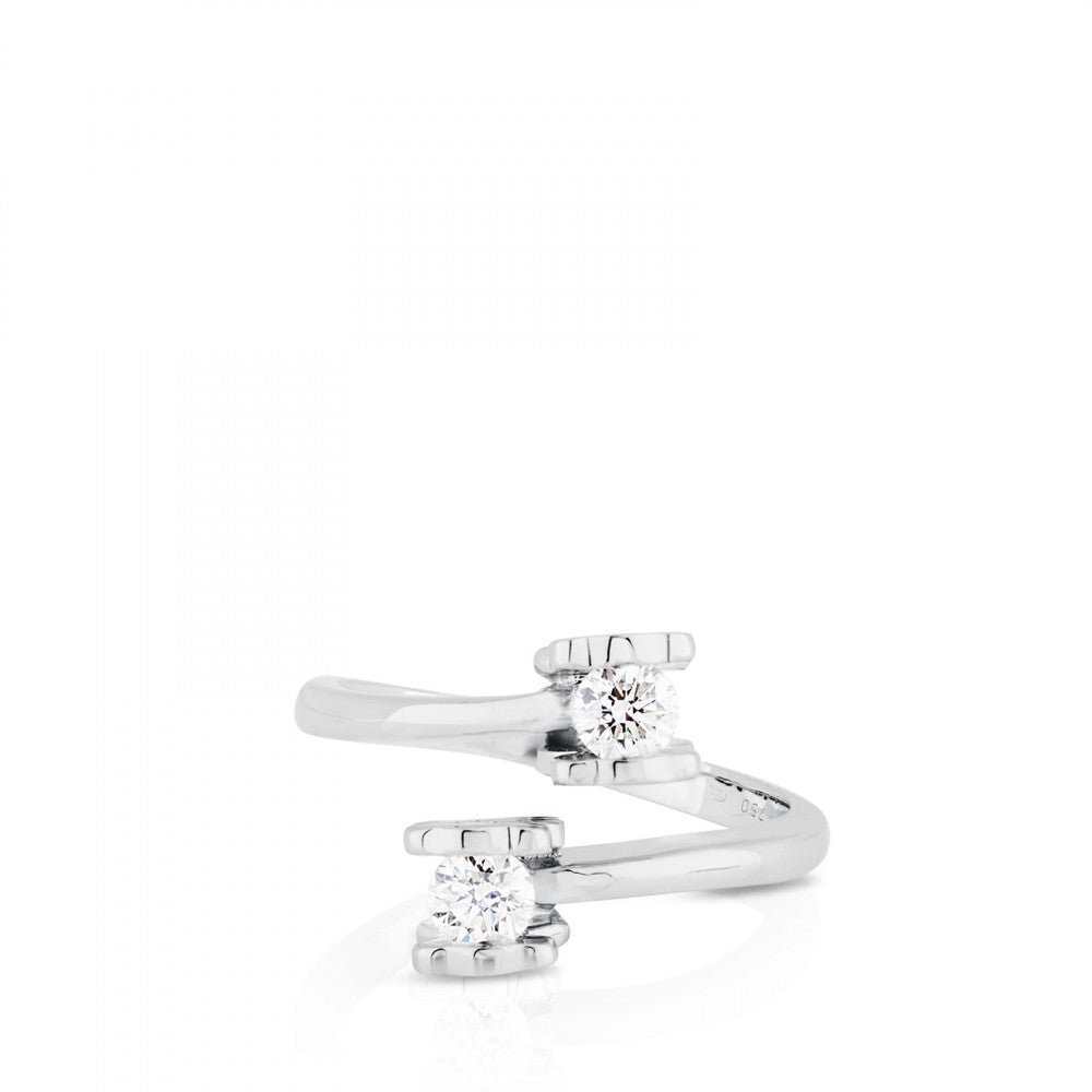 White Gold TOUS Diamonds Ring with Diamond-Ring-Tous Canada