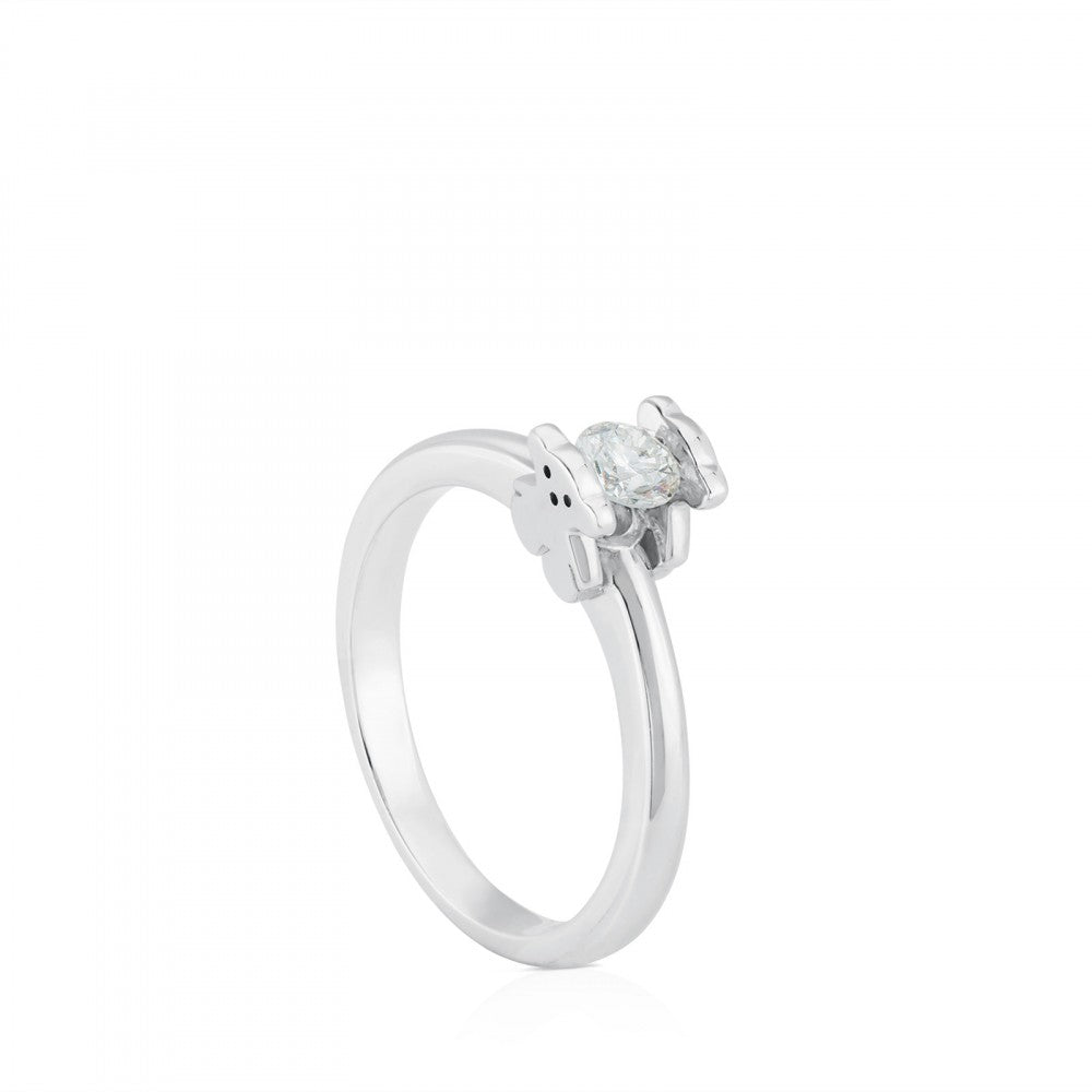 White Gold Sweet Diamonds Ring with Diamond