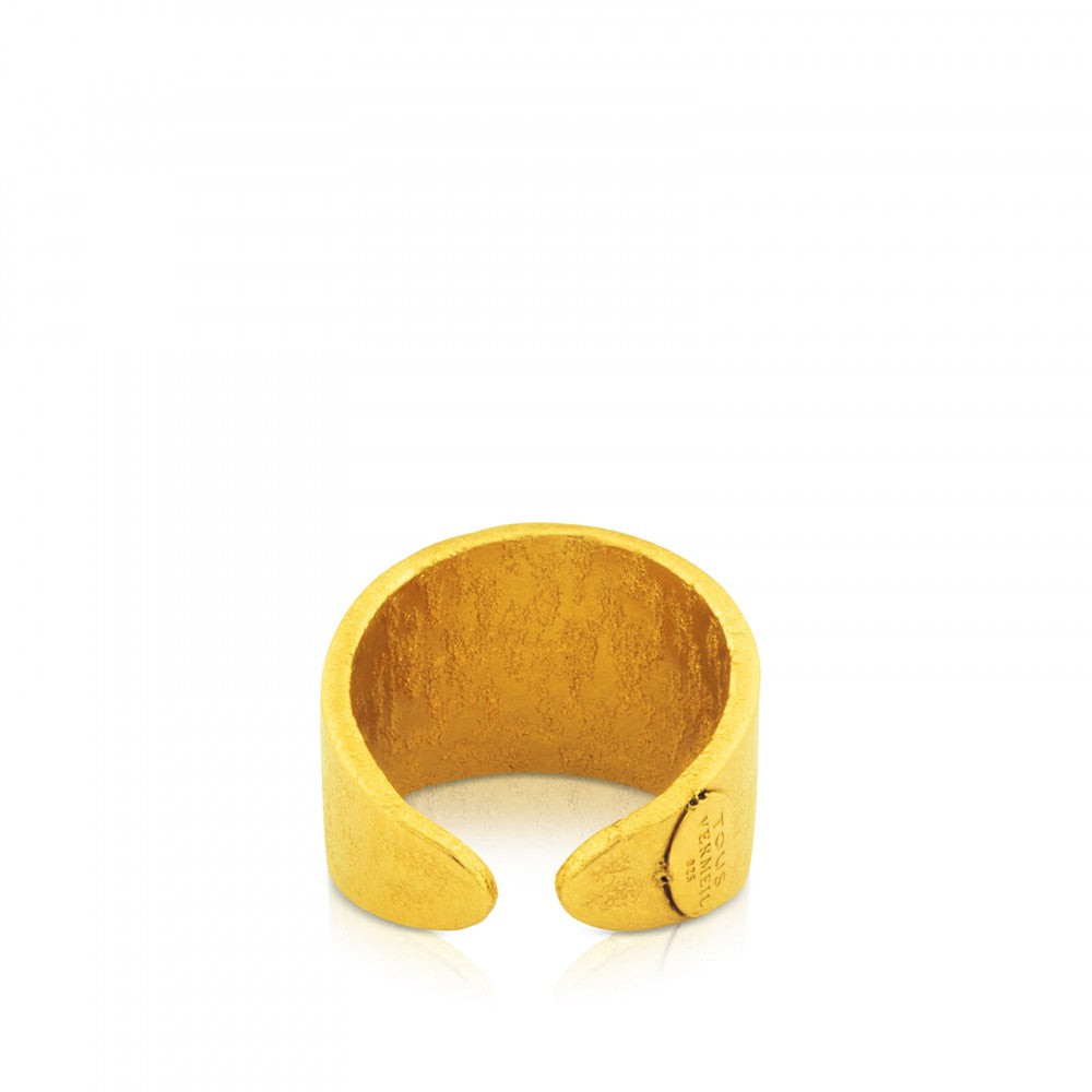 Vermeil Silver Grit Ring
