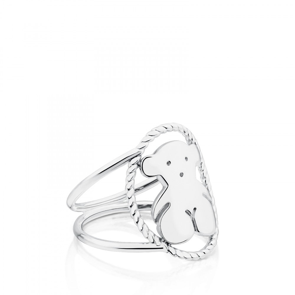 Silver Camee Ring