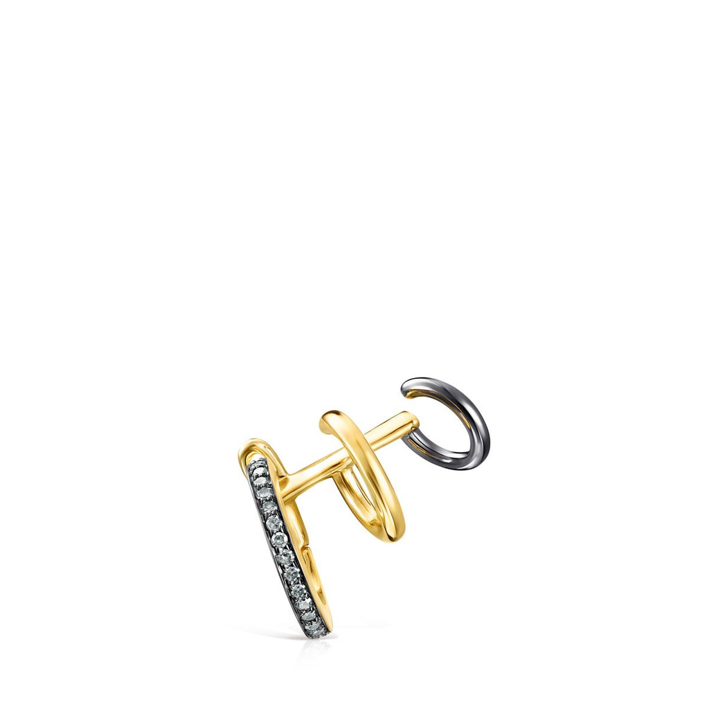 Nocturne Earcuff in Gold Vermeil with Diamonds-Default-Tous Canada