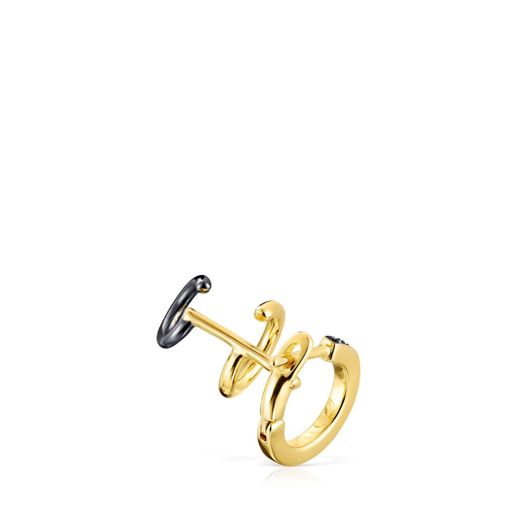 Nocturne Earcuff in Gold Vermeil with Diamonds