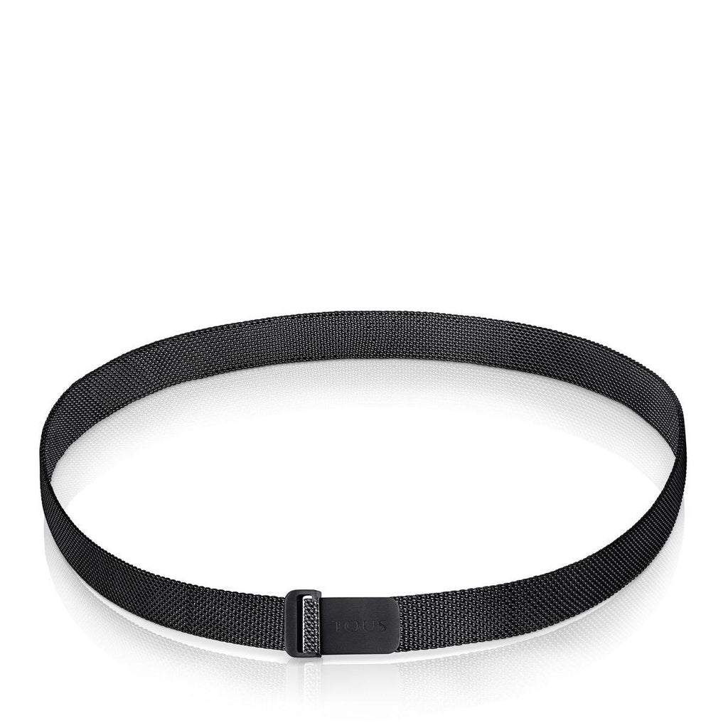 Black IP Steel Mesh Choker